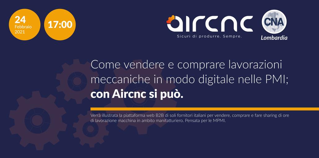 Aircnc webinar in collaborazione con CNA Lombardia